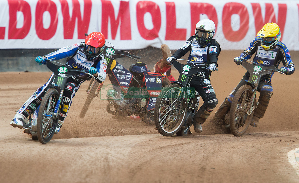 May 12, 2018 - Warsaw, Poland - Matej Zagar (SLO), Przemyslaw Pawlicki (POL), Tai Woffinden (GBR), Jason Doyle (AUS), upadek,  crash during 1st round of Speedway World Championships Grand Prix Poland in Warsaw, Poland, on 12 May 2018. (Credit Image: © Foto Olimpik/NurPhoto via ZUMA Press)