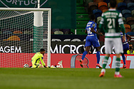 GOAL 0-2 by Mateo Cassierra after a childish move of António Adan during the Liga NOS match between Sporting Lisbon and Belenenses SAD at Estadio Jose Alvalade, Lisbon, Portugal on 21 April 2021.