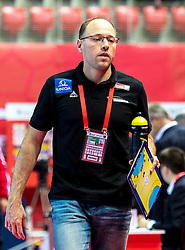 16.01.2018, Zatika Sport Centre, Porec, CRO, EHF EM, Herren, Österreich vs Norwegen, Gruppe B, im Bild Co Trainer Erwin Gierlinger (AUT) // during the preliminary round, group B match of the EHF men' s Handball European Championship between Austria and Norway at the Zatika Sport Centre in Porec, Croatia on 2018/01/16. EXPA Pictures © 2018, PhotoCredit: EXPA/ Sebastian Pucher