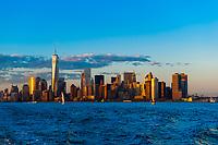 Skyline, Lower Manhattan, New York, New York USA.