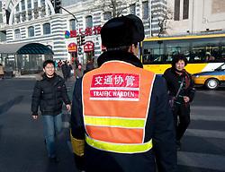 Traffic warden in Beijing in 2009