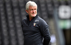 Southampton manager Mark Hughes during a pre season friendly match at Pride Park, Derby.