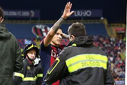 """Foto LaPresse/Filippo Rubin<br /> 25/05/2019 Bologna (Italia)<br /> Sport Calcio<br /> Bologna - Napoli - Campionato di calcio Serie A 2018/2019 - Stadio """"Renato Dall'Ara""""<br /> Nella foto: ESULTANZA GOAL BOLOGNA FEDERICO SANTANDER (BOLOGNA F.C.)<br /> <br /> Photo LaPresse/Filippo Rubin<br /> May 25, 2019 Bologna (Italy)<br /> Sport Soccer<br /> Bologna vs Napoli - Italian Football Championship League A 2018/2019 - """"Dall'Ara"""" Stadium <br /> In the pic: CELEBRATION GOAL BOLOGNA FEDERICO SANTANDER (BOLOGNA F.C.)"""