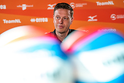 Presenter Etienne Verhoeff during the talk show of the Dutch volleyball association. The association wants to start a professionalization process with which they want to strengthen recreational sport in the coming years on March 8, 2021 in Utrecht