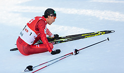 30.01.2016, Casino Arena, Seefeld, AUT, FIS Weltcup Nordische Kombination, Seefeld Triple, Langlauf, im Bild Akito Watabe (JPN) // Akito Watabe of Japan reacts after 10km Cross Country Gundersen Race of the FIS Nordic Combined World Cup Seefeld Triple at the Casino Arena in Seefeld, Austria on 2016/01/30. EXPA Pictures © 2016, PhotoCredit: EXPA/ JFK