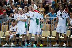Players of Hungary during handball game between Man National Teams of Slovenia and Hungary in 2019 Man's World Championship Qualification, on June 9, 2018 in Arena Bonifika, Ljubljana, Slovenia. Photo by Urban Urbanc / Sportida