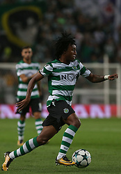 October 31, 2017 - Lisbon, Lisbon, Portugal - Sportings forward Gelson Martins from Portugal during the match between Sporting CP v Juventus FC UEFA Champions League playoff match at Estadio Jose Alvalade on October 31, 2017 in Lisbon, Portugal. (Credit Image: © Dpi/NurPhoto via ZUMA Press)