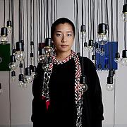 Milan, Italy, October 23, 2012. Ho jin Jung, Korean Artist and Director at Akka Studio, Art Gallery in Milan.