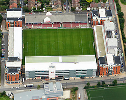 Image ©Licensed to i-Images Picture Agency. Aerial views. United Kingdom.<br /> Leyton Orient home ground, Brisbane Road or the Matchroom Stadium. Picture by i-Images