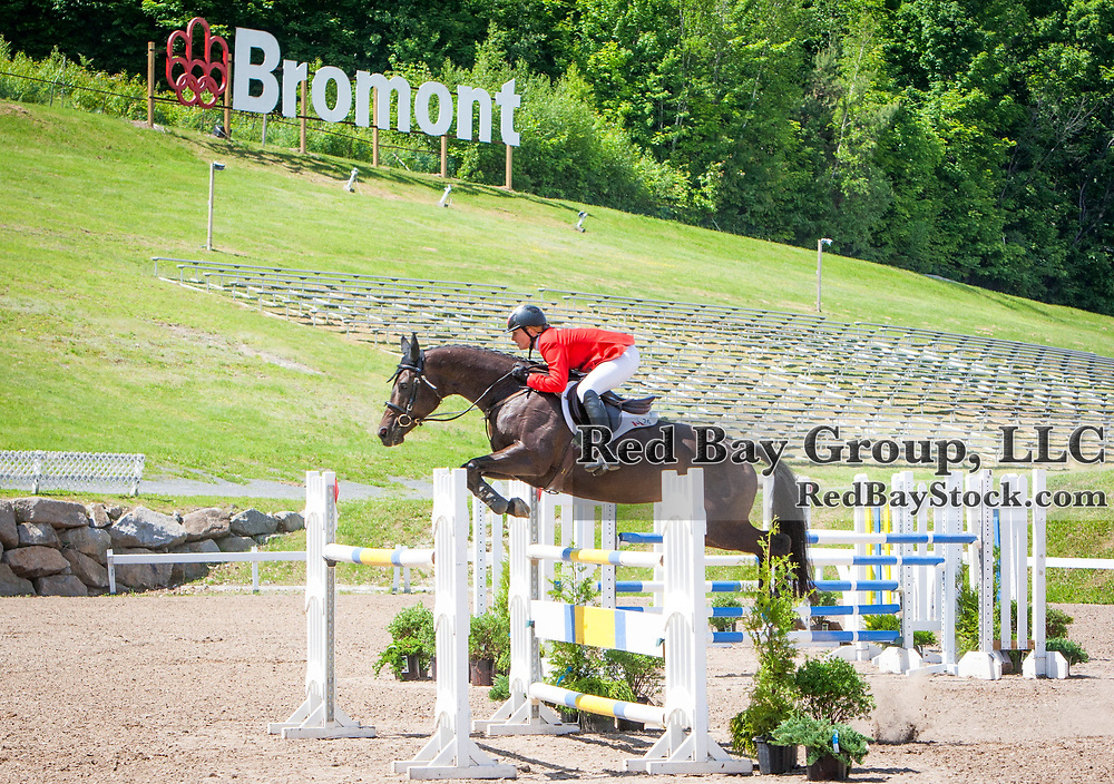 Jessica Phoenix (CAN) wins the CCI3* on A Little Romance at the 2014 Jaguar Land Rover Bromont International Three Day Event in Bromont, Quebec.