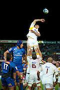 Craig Clarke of the Chiefs wins the lineout. Super Rugby, Western Force v Chiefs. Perth, Western Australia, nib Stadium. Friday 6th April 2012. Photo: Daniel Carson  Photosport.co.nz