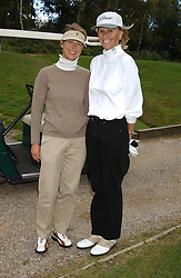 Left to right, KATRIN BRUGELMANN and CAROLYN WATERS at the Laurent-Perrier charity golf day held at Foxhills golf Club, Surrey in aid of the charity CLIC on 14th September 2004.<br /><br />NON EXCLUSIVE - WORLD RIGHTS