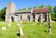 Village parish church of  Saint Mary, Old Newton, Suffolk, England, UK