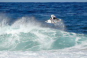 Ian Gouveia of Brazil will surf in Round Two of the 2017 Billabong Pipe Masters after placing third in Heat 1 of Round One at Pipe, Oahu, Hawaii, USA