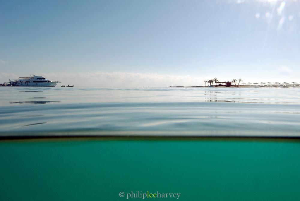 Coastline of the Red Sea at Hurghada, Egypt