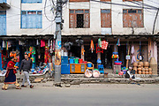 A hardware shop along the main street through the centre of Besishahar on the 10th of March 2020, Besishahar, Lamjung District, Gandaki Pradesh, Nepal. Besishahar is a small town, municipality and the district headquarters of Lamjung District in Gandaki Pradesh, Nepal.