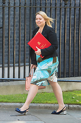 Culture Secretary Karen Bradley arrives at 10 Downing Street in London for a Cabinet meeting.