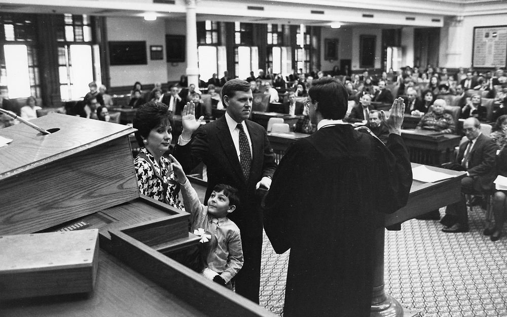 Texas Supreme Court Justice sworn into office on the floor of the Texas House ©1993