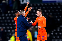 Millwall manager Neil Harris celebrates with Jed Wallace of Millwall - Mandatory by-line: Robbie Stephenson/JMP - 20/02/2019 - FOOTBALL - Pride Park Stadium - Derby, England - Derby County v Millwall - Sky Bet Championship
