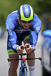 June 7, 2017 - Bourgoin Jallieu, France - BOURGOIN-JALLIEU, FRANCE - JUNE 7 : VAN KEIRSBULCK Guillaume (BEL) Rider of Wanty - Groupe Gobert during stage 4 of the 69th edition of the Criterium du Dauphine Libere cycling race, an individual time trail of 23,5 kms between La Tour-du-Pin and Bourgoin-Jallieu on June 07, 2017 in Bourgoin-Jallieu, France, 7/06/2017 (Credit Image: © Panoramic via ZUMA Press)