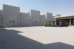 View of art gallery buildings at new Alserkal Avenue in Al Quoz cultural district of Dubai, United Arab Emirates.