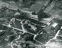 1921 Aerial view of Cecil B. DeMille's home in the Los Feliz area