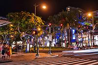 Waikiki Shopping District, Kalakaua Avenue & Lewers Street