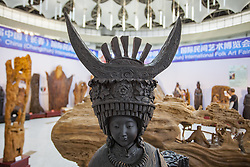 August 9, 2017 - Changchu, Changchu, China - Changchun, CHINA-August 7 2017: (EDITORIAL USE ONLY. CHINA OUT) ..Root carvings are on display at an exhibition in Changchun, northeast China's Jilin Province, August 7th, 2017. (Credit Image: © SIPA Asia via ZUMA Wire)