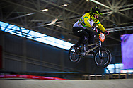 #555 (MCLEOD Melinda) AUS at the 2014 UCI BMX Supercross World Cup in Manchester.