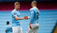 Football - 2019 / 2020 Premier League - Manchester City vs Norwich City<br /> <br /> Kevin De Bruyne and Kyle Walker of Manchester City  at the Etihad Stadium.<br /> <br /> COLORSPORT/LYNNE CAMERON