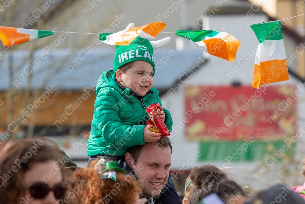 Cllr Cathal Crowe at the Sixmilebridge St Patrick's Day Parade