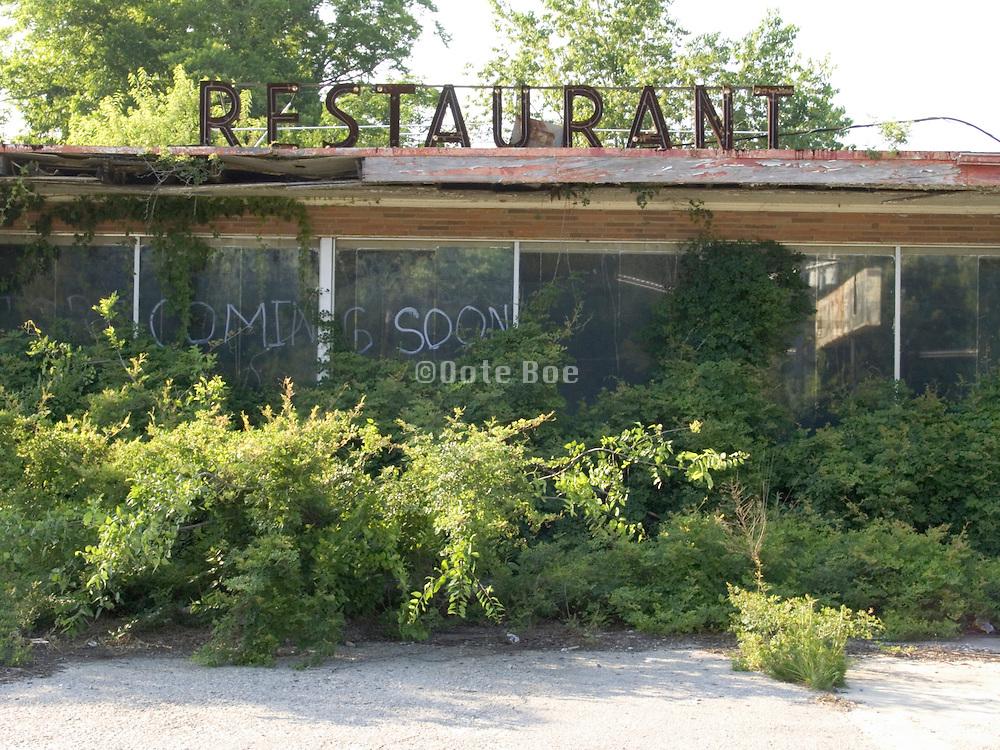 abandoned restaurant building Georgia USA
