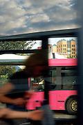 Gare routière de Val d'Europe, Marne-La-Vallée, Paris-Ile-de-France, France.<br /> Bus station of Val d'Europe, town of Marne-la-Vallée, Paris-Ile-de-France, France.