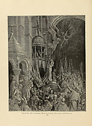 Dandolo, [Enrico or Henry Dandolo 1107 – May 1205] Doge of Venice preaching the crusade Plate LII from the book Story of the crusades. with a magnificent gallery of one hundred full-page engravings by the world-renowned artist, Gustave Doré [Gustave Dore] by Boyd, James P. (James Penny), 1836-1910. Published in Philadelphia 1892