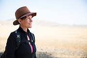 Baby boomer women hiking