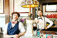 Brothers Eric (left) and Ryan Berley are co-owners of The Franklin Fountain in the historic Old City neighborhood of Philadelphia.