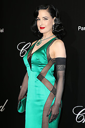 """""""Love"""" party Chopard in Cannes 2019.. Pictures: Laurent Guerin / EliotPress Set ID: 600942. 17 May 2019 Pictured: Dita von Teese. """"Love"""" party Chopard in Cannes 2019.. Pictures: Laurent Guerin / EliotPress Set ID: 600942. Photo credit: Eliot Press / ELIOTPRESS / MEGA TheMegaAgency.com +1 888 505 6342"""