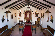 Private chapel interior of Pablo Corral Vega's farm house two hours outside Quito, Ecuador.