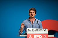 DEU, Deutschland, Germany, Berlin, 01.06.2018: Timo Schramm, Kandidat der Berliner SPD zur Europawahl, Landesparteitag der Berliner SPD im Hotel Andels.