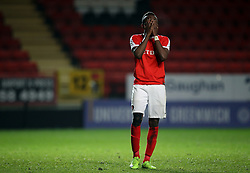 Charlton U23's Regan Charles-Cook looks dejected after his shot is saved during the penalty shoot out