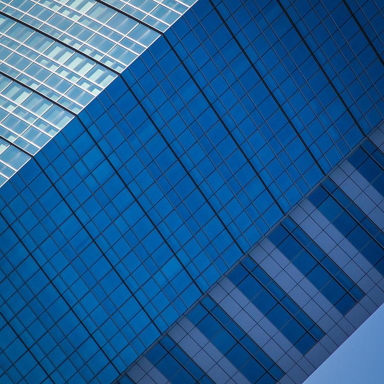 USA, California, Sacramento. An abstract image of an office building.
