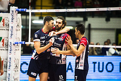 January 13, 2018 - Monza, Italy, Italy - Gi Group Monza celebrates the point against Sir Safety Conad Perugia (Credit Image: © Mairo Cinquetti/Pacific Press via ZUMA Wire)