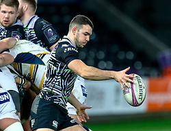 Tom Habberfield of Ospreys<br /> <br /> Photographer Simon King/Replay Images<br /> <br /> European Rugby Challenge Cup Round 5 - Ospreys v Worcester Warriors - Saturday 12th January 2019 - Liberty Stadium - Swansea<br /> <br /> World Copyright © Replay Images . All rights reserved. info@replayimages.co.uk - http://replayimages.co.uk