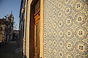 Ceramic tiles facade at Bica district in Lisbon.