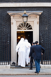 David Cameron Meets Crown Prince of Abu Dhabi.<br /> Crown Prince of Abu Dhabi Mohammed bin Zayed bin Sultan Al Nahyan enters 10 Downing Street, <br /> London, United Kingdom<br /> Monday, 15th July 2013<br /> Picture by Piero Cruciatti / i-Images