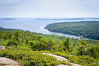 View from Gorhman Mountain, Acadia National Park, Mount Desert Island, Maine