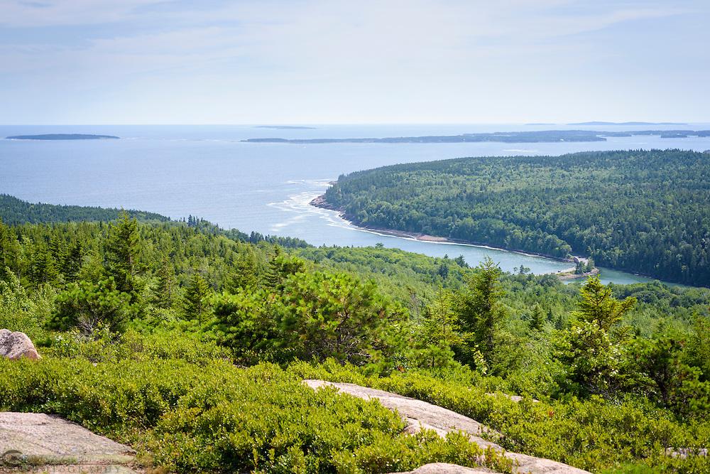 View from Gorhman Mountain, Acadia National Park, Mount Desert Island, Maine