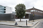 The White Cube Gallery on 13th October 2015 in London, United Kingdom. Located in a renovated 1970s building on Bermondsey Street, The White Cube hosts innovative art installations and films