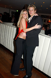 ED McDERMOTT and ALEXANDRA GILPIN at a night of Cuban Cocktails and Cabaret hosted by Edward Taylor and Charles Beamish at Floridita, 100 Wardour Street, London W1 on 14th April 2005.<br /><br />NON EXCLUSIVE - WORLD RIGHTS