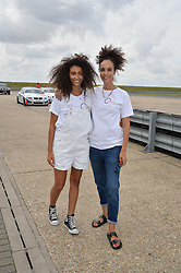 Left to right,  ISABELLA CALLIVA and JEANETTE CALLIVA at the Stride Foundation Track Day held at the bedford Autodrome, Bedford on 1st August 2014.